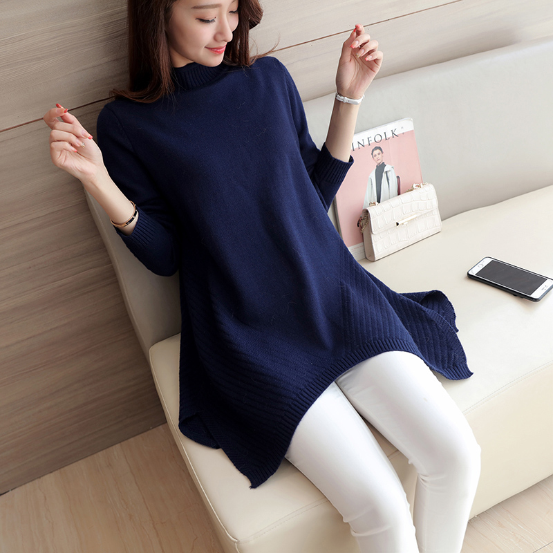 2017 fashion autumn and winter leisure package core yarn thick pregnant women sweater
