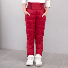 2019 New Solid Pencil Pants Children Trousers Goose Down Pants Kids Winter Regular Warm Winter Girls Boys Pants Clothing P399 jumping meters new striped girls legging pants 2018 fashion cotton trousers girls clothing children autumn kids pencil pants
