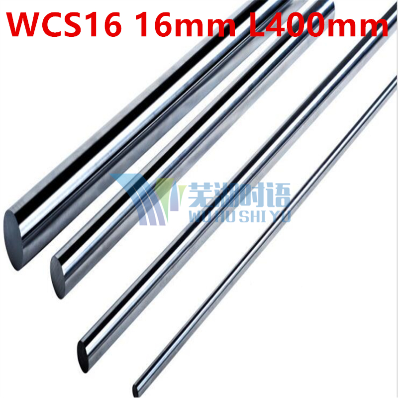 2pcs/lot WCS16 16mm 400mm 16mm L400mm linear shaft linear round shaft linear bushing shaft cnc linear rail 16mm rod harden linear bushing r162472220