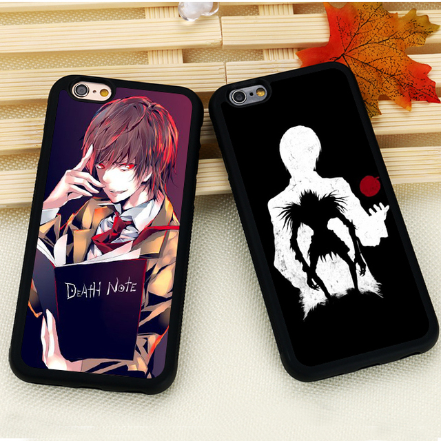 Death Note Anime Printed Soft Rubber Skin Mobile Phone Cases Cover For iPhone 6 6S Plus 7 7 Plus SE 5S SE 5 5C 4 4S Back Shell
