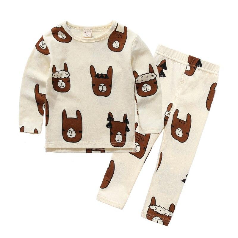 Alpaca Print Baby Pajamas 1