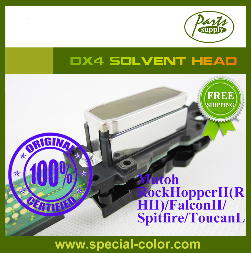 Mutoh RockHopperII(RHII)/FalconII/ Spitfire/ToucanLT DX4 Printer Head Solvent Japan Printhead (Get 2pcs DX4 small damper free) get 4pcs dx4 small damper as gift original japan dx4 solvent printer head roland rs640 mimaki jv3 printhead