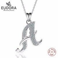 Eudora 100%リアル925スターリングシルバーaaaクリスタル文字aペン