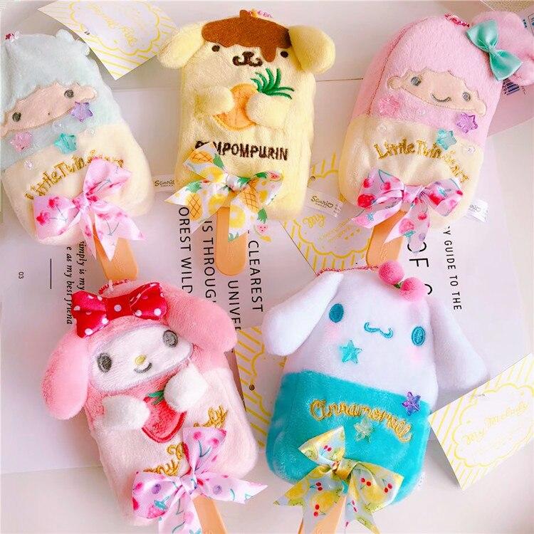 50pcs/lot Cute Small Kiki lala ,Little twin stars ,Melody Pudding Dog Plush toys Cosplay Icecream Model For Kids Bags Pendant