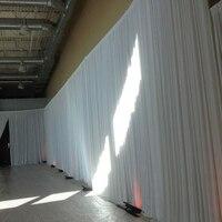 4x6 м льда шелка белого цвета свадебная простыня занавес плиссированные свадебное фон занавес драпировки цвета слоновой кости этап backgroud укр