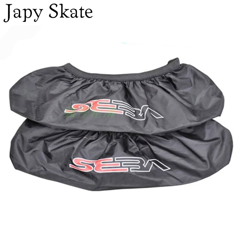Japy Skate 4 Wheels Seba roller waterproof nylon shoe bag shoes cover roller tool holder shoes cover wheels set good quality