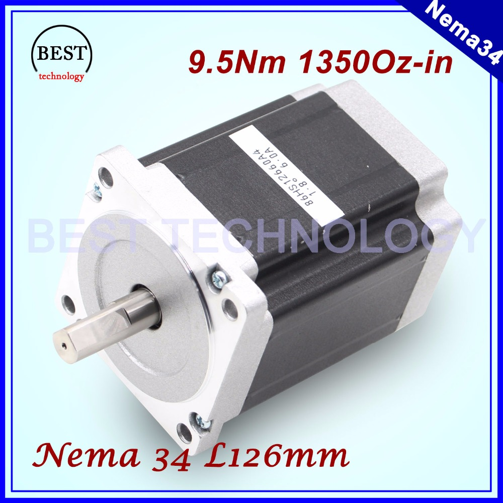 цена на NEMA 34 CNC stepper motor  86X126mm 9.5 N.m 6A D14mm stepping motor 1350Oz-in for CNC engraving machine and 3D printer!