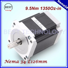 NEMA 34 CNC stepper motor  86X126mm 9.5 N.m 6A D14mm stepping motor 1350Oz-in for CNC engraving machine and 3D printer!