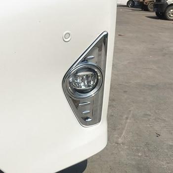 MONTFORD ABS Chrome Eksterior Depan Kepala Kabut Cahaya Lampu Penutup Trims Protector 2 Pcs Fit Untuk Toyota Alphard Vellfire 2016 2017 2018