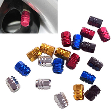 цена на 4Pcs Wheel Tire Valve Cap Dust Cap Aluminum Tire Wheel Rims Stem Air Valve Caps Tyre Cover Car Truck Bike Tire Wheel Rims