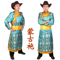 Male Robed Mongolia Clothes Costume Dance Clothes Dance Chinese Minority Clothing Apparel Mongolia Clothes Costume Male