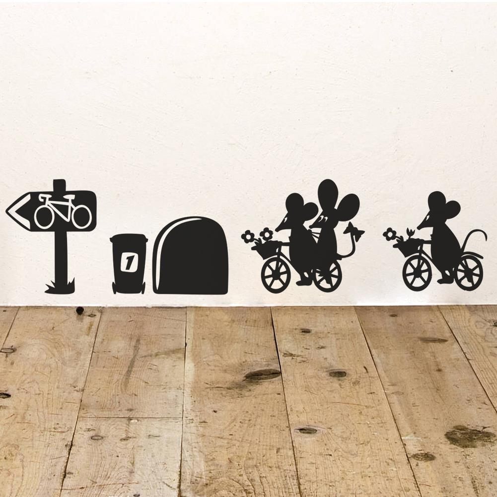 Superior ... I Love You So Much 3d Funny Mouse Hole Wall Stickers Decals Living Room  Bedroom Wall ... Part 23