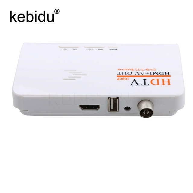 Kebidu HD TV Box 1080p HDMI + AV out USB2.0 DVB- T2 receiver TV BOX Set-top Boxes digital Terrestrial Receiver for TV