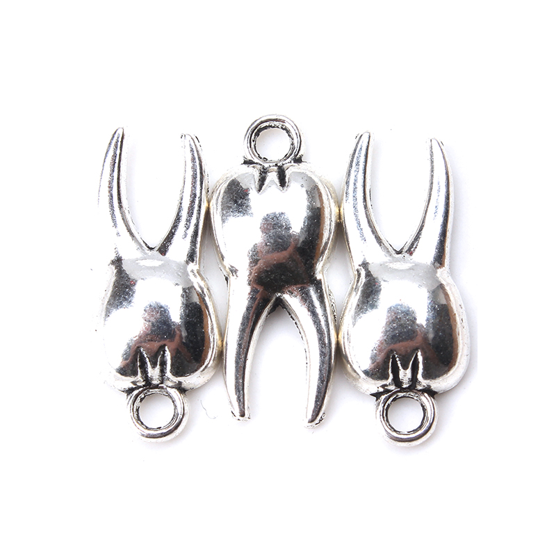 10 Teil/los 20*8mm Zahn Charme Antike Silber Ton Für Diy Schmuck Anhänger & Halskette Zubehör Machen