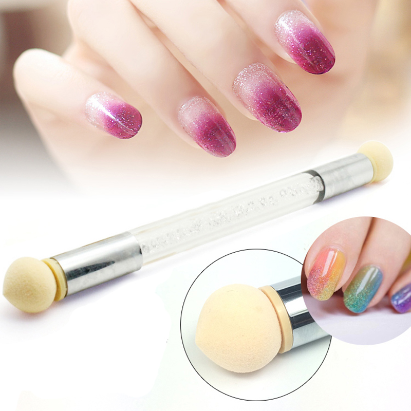 4 heads nail art brush sponge tools manicure diy shading for Avon nail decoration brush
