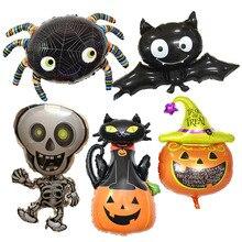Halloween Pumpkin Ghost Balloons Halloween Decorations Spider Foil Bal