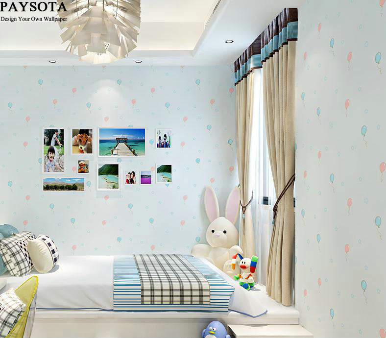 Real Papel De Parede Papel Pintado Paysota 3d Cartoon Balloon Non-woven Wallpaper Children Room Bedroom Warmth Wall Paper купить