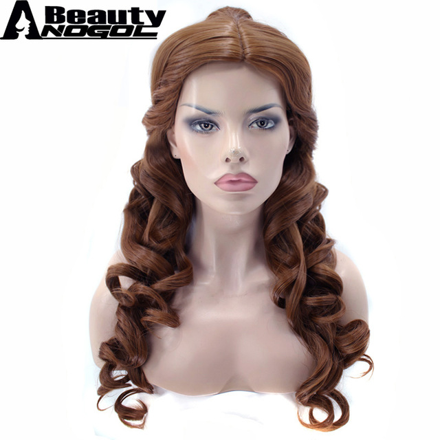 Anogol Beauty Clip Ponytaihair Capbeauty And Beast Natural Brown