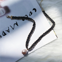 Fashion Pearl black collar neck chain sexy round clavicle wild temperament choker necklace Cowboy accessories jewlery