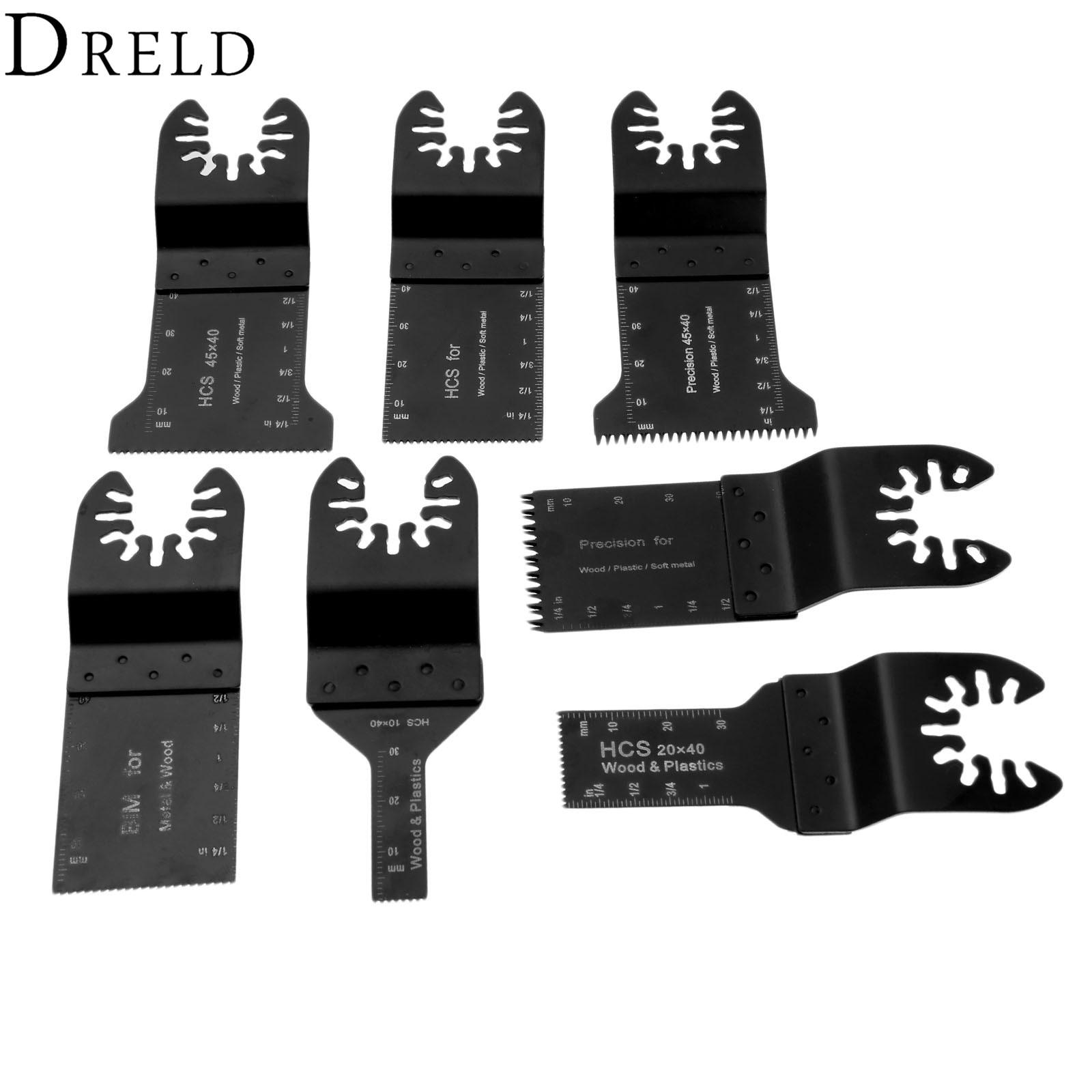 DRELD 7pcs/set Oscillating MultiTools Quick Release Saw Blade Multifunction Tools For Multimaster Renovator Bosch Power Tools