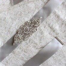 Мэнди груши бальное милая бисера кнопки пояса свадебные кристалл платье аксессуары