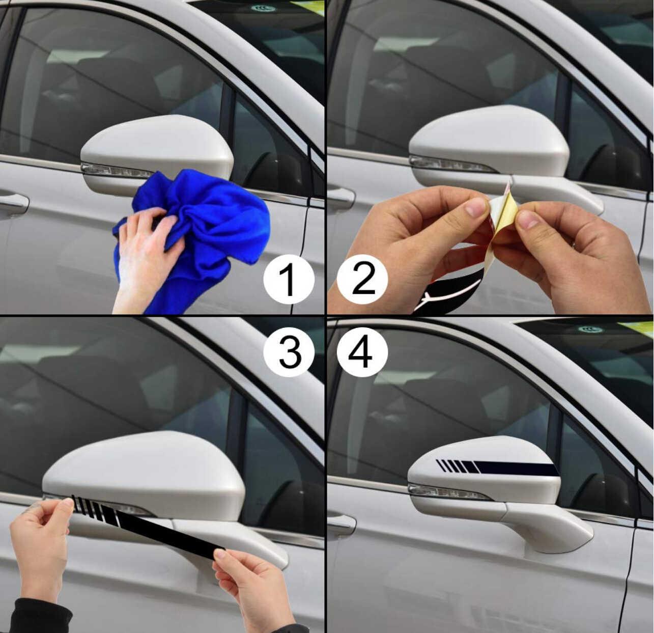 2 шт./партия автомобильный Стайлинг авто внедорожник виниловая графика Автомобильная наклейка зеркало заднего вида боковая наклейка полоса DIY наклейки для автомобиля