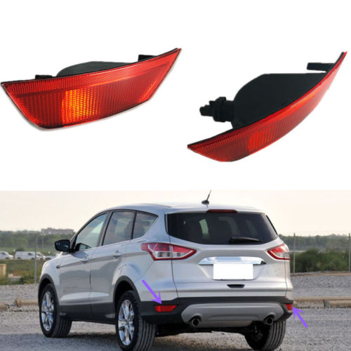 1Pair Rear Bumper Fog Lamp Lighting For Ford Escape 2013-2016 car front bumper mesh grille around trim racing grills 2013 2016 for ford ecosport quality stainless steel