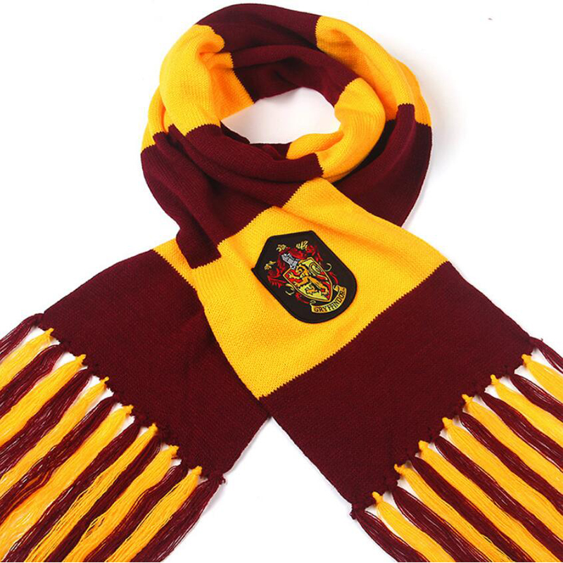 New Harri Potter Scarves Gryffindor/Hufflepuff/Ravenclaw Scarves Cosplay Costumes Children's Day Gift