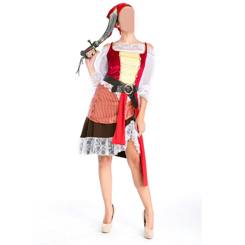 Costumes & Accessories New Party Costumes Adults Women,fancy Dress Costumes,latest Costumes Fancy,high Quality Pirate Lingerie,drop Shipping Hot Dress