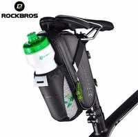 ROCKBROS Bicycle Saddle Bag Cycling Rear Seat Tail Bag Bike Accessories With Water Bottle Pocket Waterproof