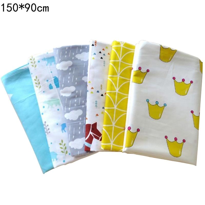 1 Pcs Newborn Baby Cotton Sheets Zebra Crown Cartoon Print Infant Kids Sheet Baby Bed Boys Girls Bedsheet 150*90 CM Bedding