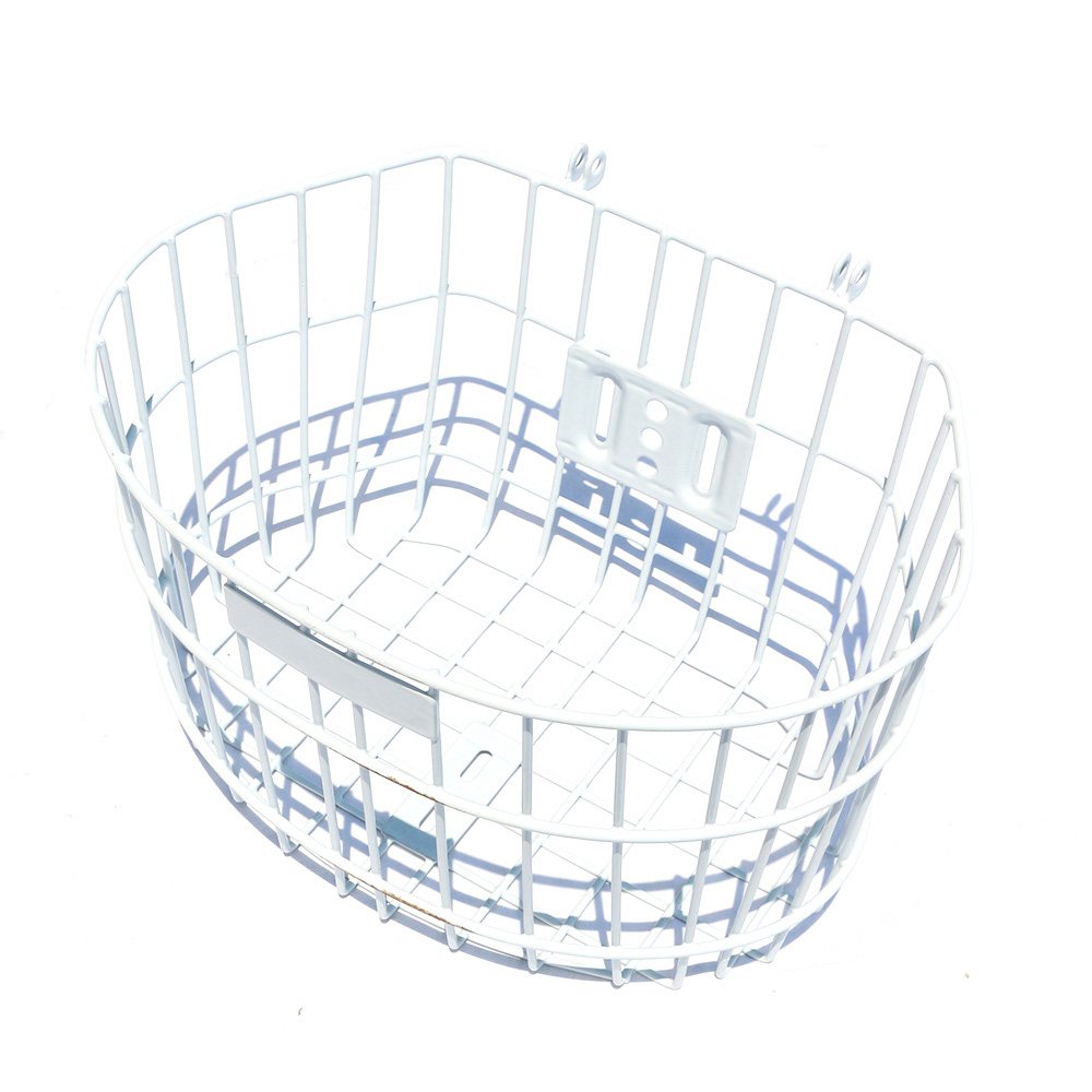 New Arrivals Bicycle Basket Cycling Steel White for City <font><b>Bike</b></font> Outdoor Sport <font><b>GIANT</b></font> Mountain Girl Bag Panniers Bycicle <font><b>Accessories</b></font> image