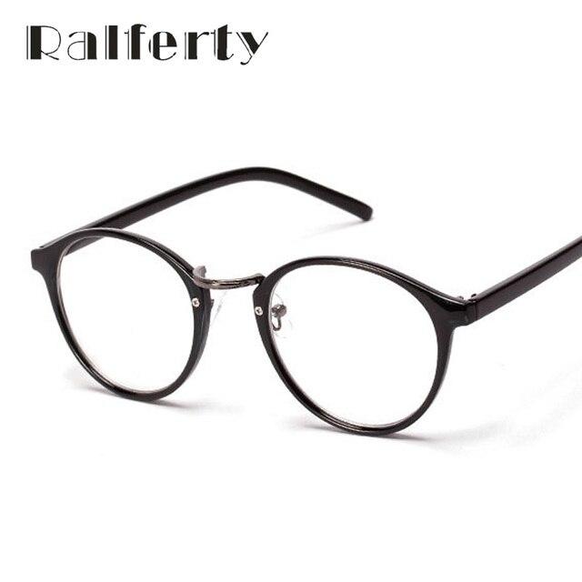 e1a7016daa0ec Ralferty Moda Do Vintage Miopia Óculos Óptica Quadros Utra-luz Círculo das Mulheres  Óculos De