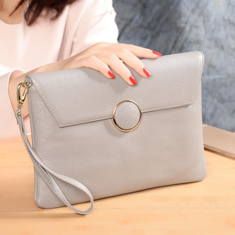 Women's Clutch Bags For Women Genuine Leather Shoulder Crossbody Bag Female Money Wallet Ladies Party Clutch Purse Flap Hand Bag