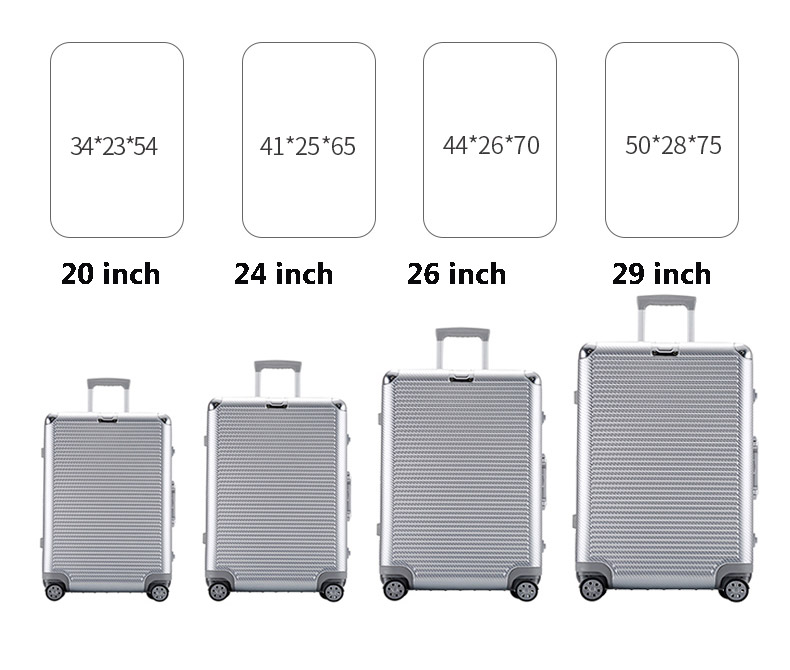 CARRYLOVE Super fashion NEW spinner aluminum frame hardside travel suitcase on wheel 26 travel bags trolley