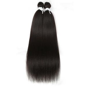 Magic Synthetic Weave Hair-Bundles Yaki Long-Hair Black Natural Straight 22inch 2pcs/Lot