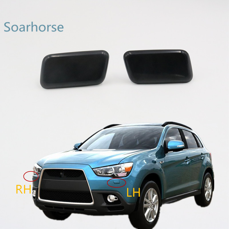 Soarhorse For Mitsubishi ASX 2010-2015 Car Headlight Washer Sprayer Nozzle Cover Headlamp Cleaning Jet Cap