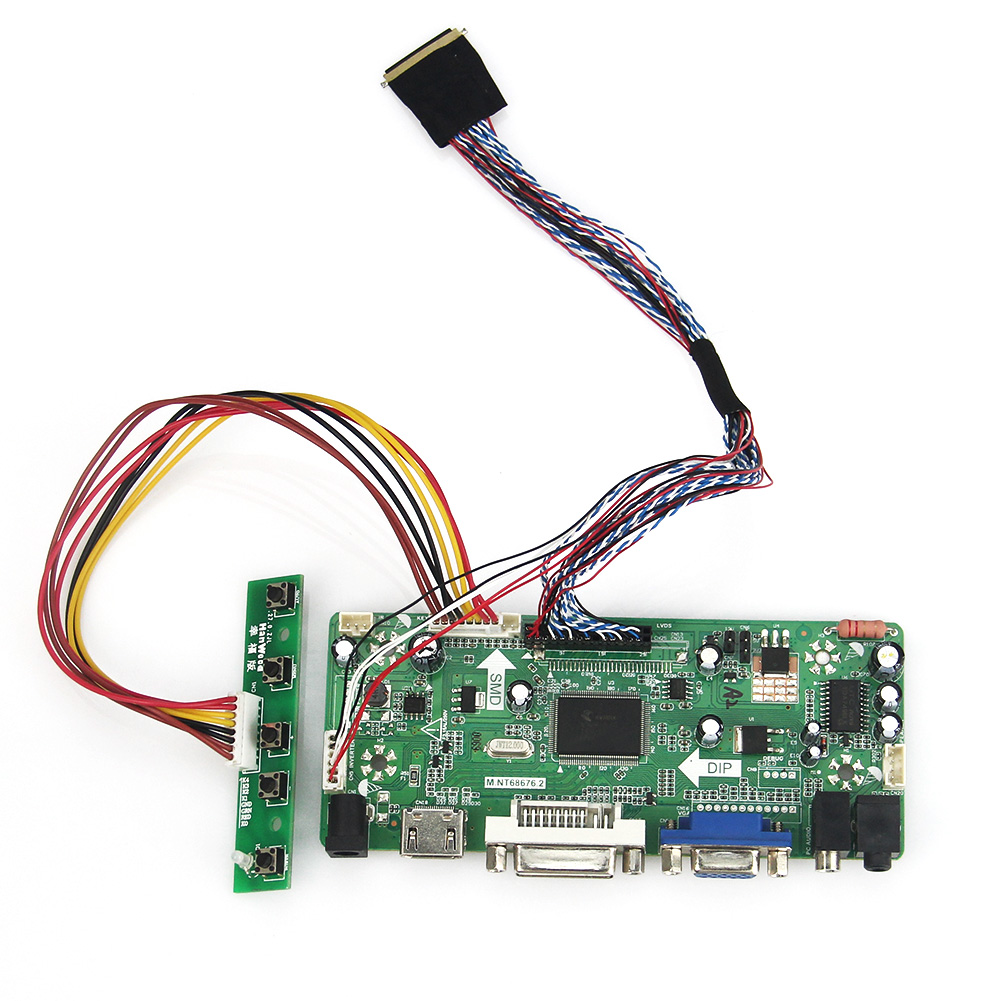 M.NT68676 LCD/LED Controller Driver Board ForB101EW05 V.3 PQ101WX01 (HDMI+VGA+DVI+Audio) LVDS Monitor Reuse Laptop 1280*800