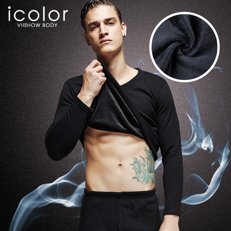 ICOLOR Clothing Men Pajamas Sleepwear Lounge-I-Bn011 Warm Male Winter Cotton Home Autumn