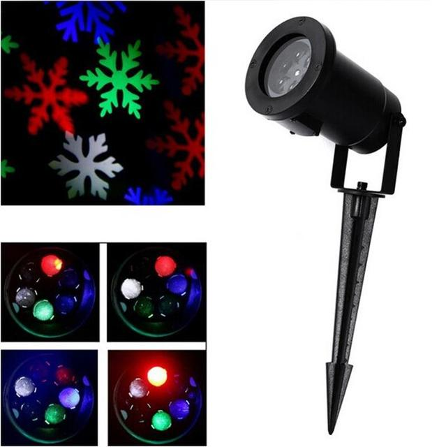 Christmas snowflake laser lights snow led landscape light outdoor christmas snowflake laser lights snow led landscape light outdoor holiday garden decoration projector moving pattern spotlight mozeypictures Image collections