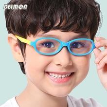 Belmon Kids Student Eyeglasses Spectacle Frame Children Anti-Blue Rays Light Computer Optical Glasses For Baby Boys&Girls F005