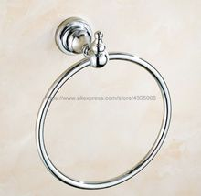 Polished Chrome Round Style Ring Wall Mount Towel Ring Bathroom Accessories Bath Towel Holder Bath Hardware Bba905 цены онлайн