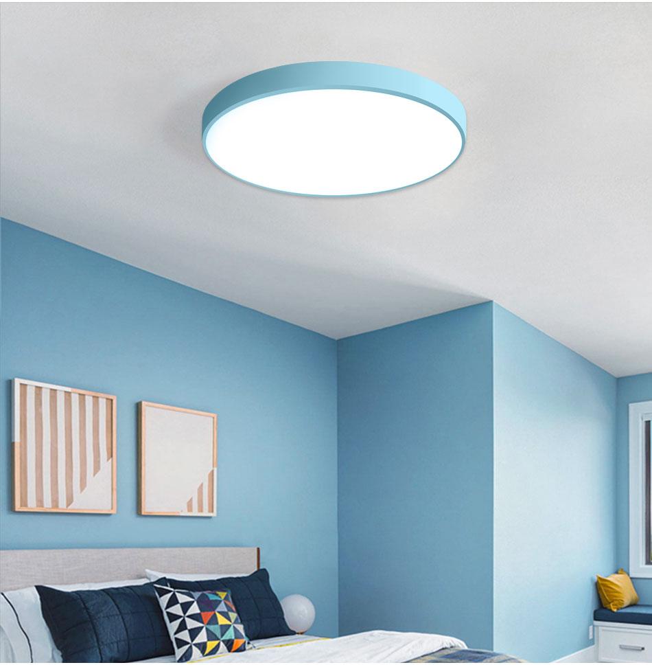 HTB1UnRfaLvsK1Rjy0Fiq6zwtXXad LED Ceiling Light Lamp Modern Lighting Fixture Bedroom Kitchen Foyer Simple Surface Mount Flush Panel Living Room Remote Control