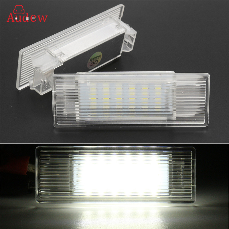 2Pcs 18SMD Led Footwell Luggage Trunk Interior Light Glove Box Lamp Door Courtes Light No Error  For BMW 5-series  F10 M5 F11 GT carprie super drop ship new 2 x canbus error free white t10 5 smd 5050 w5w 194 16 interior led bulbs mar713