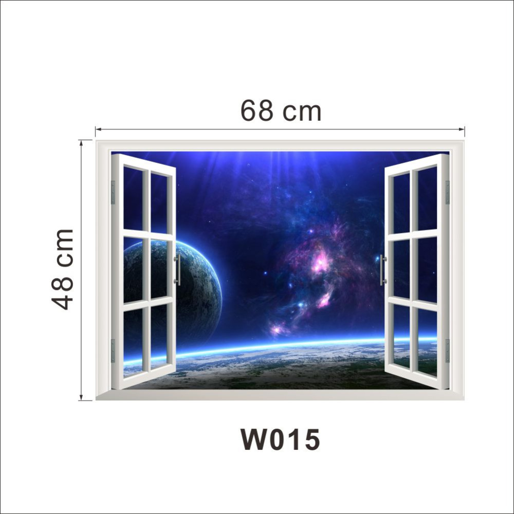 Aliexpresscom Buy 2015 Creative Outer Space Earth 3D Window