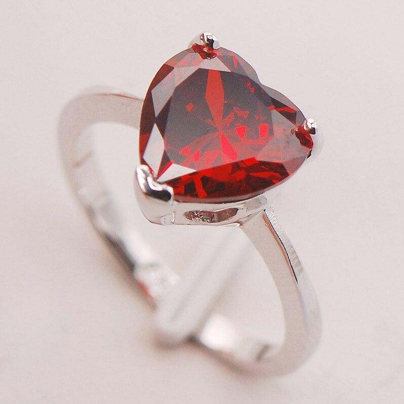 Garnet Women 925 Sterling Silver Ring F763 Size 5 6 7 8 9