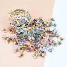 50 шт. 2 см многоцветная голова цветка маргаритки Мини Шелковый Искусственный цветок настенный для короны лома Свадебный домашний декор DIY головной убор в форме гирлянды