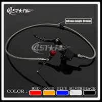 Black 900MM Hydraulic Foldable Clutch Levers Master Slave Cylinder Fit Motorcycle Dirt Pit Bike ATV 50