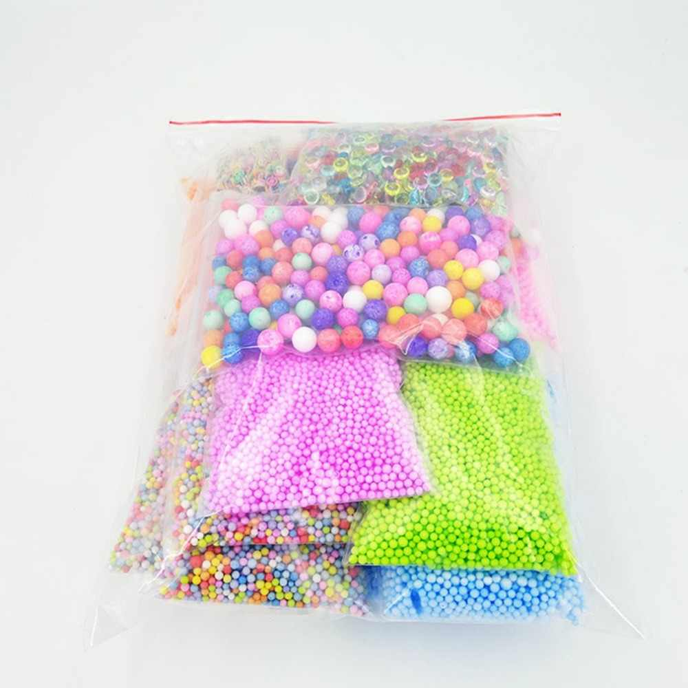 17 Pack/Sets Slime Beads Charms Fishbowl Beads Foam Balls Fruit Slices Slime Making Kit DIY Crafts Clay Sewing Clothing Bead