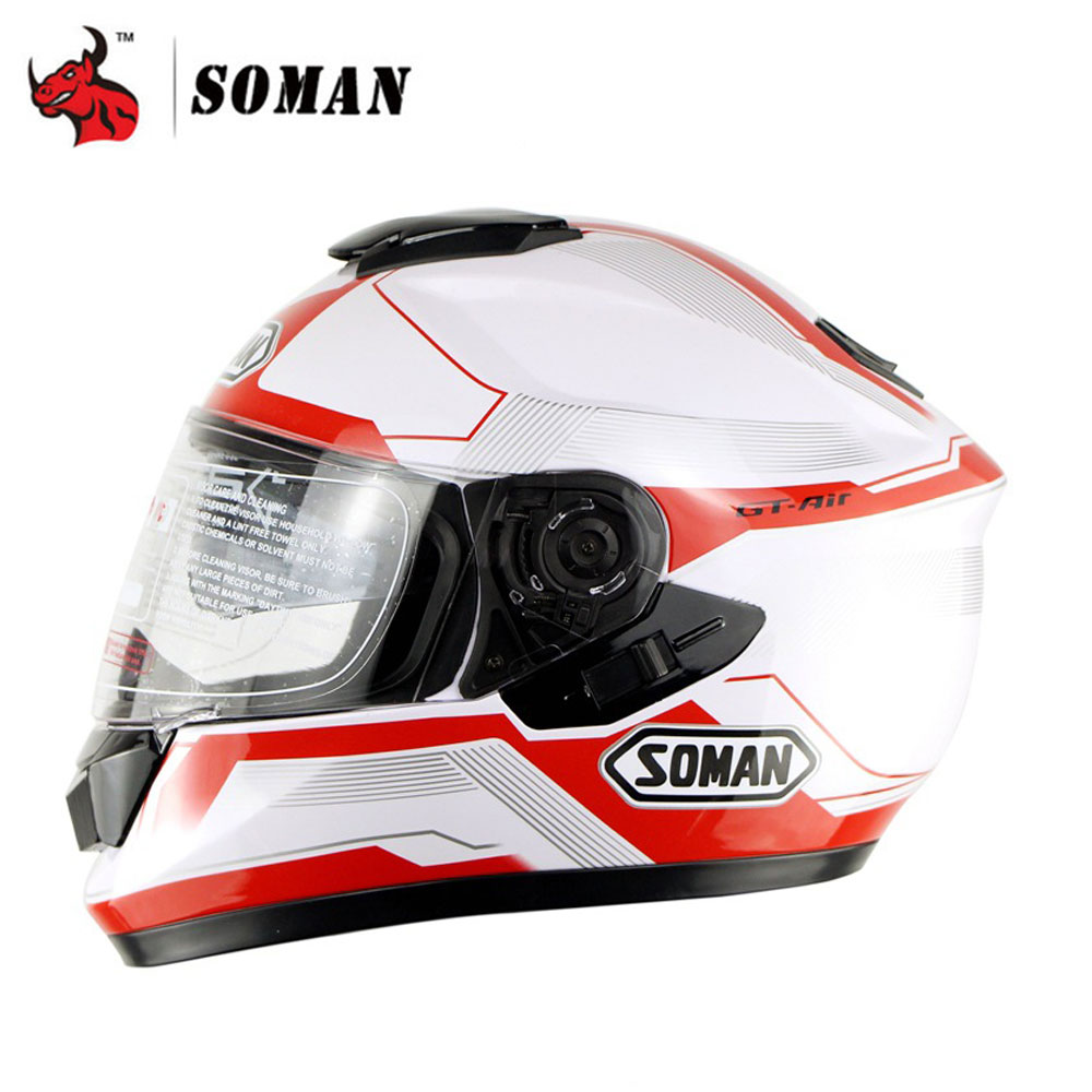 SOMAN Motorcycle Helmet Moto Flip Up Motorbike Full Face Helmet Racing Helmets Capacete Casque Personality Moto Capacete nenki motorcycle helmets motocross racing helmet motorbike full face helmet capacete de moto for men and women 13 color
